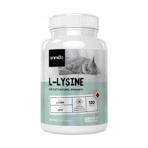 L-Lysine for Cats - Natural Immunity Aid Supplement For Kitten & Cats - 120 Kapsler - Animigo