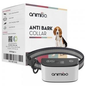 Anti-Gø Halsbånd - Hundetræning Uden Elektriske Stød - Vejrfast - Vibration & Biplyd  - Animigo