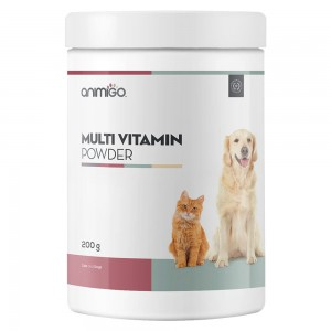 Multi Vitamin Powder - Multi-Purpose Vitality Supplement Power for Cats and Dogs - Animigo